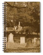 Mt Auburn Cemetery 13 Sepia Spiral Notebook