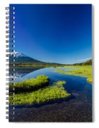 Mt. Bachelor Reflection And Forest Spiral Notebook
