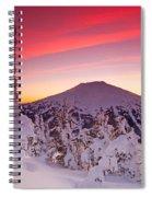 Mt. Bachelor Winter Twilight Spiral Notebook