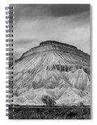 Mt. Garfield - Black And White Spiral Notebook