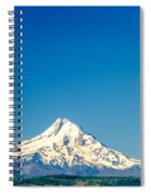 Mt. Hood And Blue Sky Spiral Notebook
