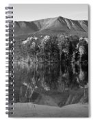 Mt Katahdin Black And White Spiral Notebook