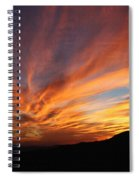 Mt Ord Sunset Arizona Spiral Notebook