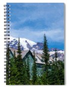 Mt Rainier And Paradise Inn Spiral Notebook
