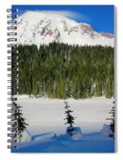 Mt Rainier And Three Trees Spiral Notebook