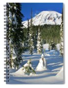Mt Rainier At Reflection Lakes In Winter Spiral Notebook