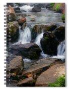 Mt Rainier Mountain Stream Spiral Notebook