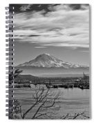 Mt. Rainier Over The Port Of Tacoma Spiral Notebook