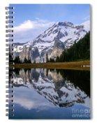 Mt. Rainier On Aurora Lake Spiral Notebook
