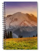 Mt. Rainier Sunset 2 Spiral Notebook