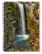 Mt Rainier Waterfall Spiral Notebook