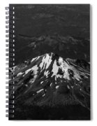 Mt Shasta Black And White Spiral Notebook
