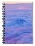 Above The Clouds At Sunset Spiral Notebook