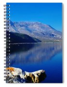 Mt St Helens Reflecting Into Spirit Lake   Spiral Notebook
