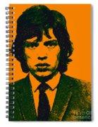 Mugshot Mick Jagger P0 Spiral Notebook