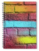 Multi-colored Brick Wall Spiral Notebook