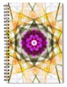 Multi Flower Abstract Spiral Notebook