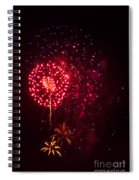 Multicolored Fireworks Spiral Notebook