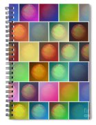 Multicolored Suns Spiral Notebook