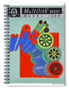 Multilith 1250 Ink Rollers Cylinders Spiral Notebook