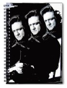 Multiple Johnny Cash Sitting Old Tucson Arizona 1971-2008 Spiral Notebook