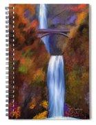 Multnomah Falls In Autumn Spiral Notebook