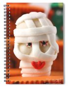 Mummy Sweet On Halloween Cup Cake Spiral Notebook