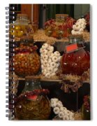 Munich Market With Pickles And Olives Spiral Notebook