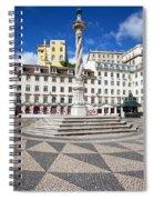 Municipal Square In Lisbon Spiral Notebook