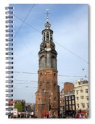Munttoren In Amsterdam Spiral Notebook