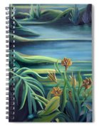 Mural Bird Of Summers To Come Spiral Notebook