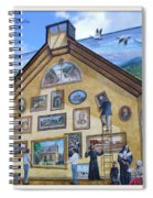 Mural In Beaupre Quebec Spiral Notebook