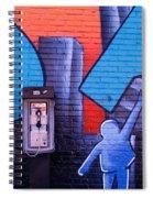 Mural, Nyc, New York City, New York Spiral Notebook