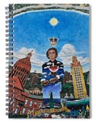 Mural Of Stephen F Austin Off Guadalupe Spiral Notebook