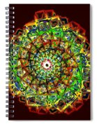Murano Glass - Red Spiral Notebook