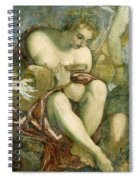 Muse With Lute Spiral Notebook