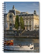 Musee D'orsay Along River Seine Spiral Notebook