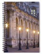 Musee Du Louvre Lamps Spiral Notebook