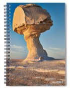 Mushroom Formation In White Desert  Spiral Notebook