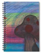 Mushroom And Star Spiral Notebook