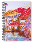 Mushrooms And Hedgehogs Spiral Notebook