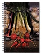 Mushrooms And Radishes Framed Spiral Notebook