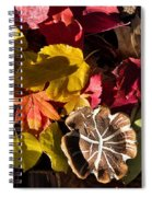 Mushrooms In Fall Leaves Spiral Notebook