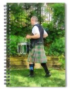 Music - Drummer In Pipe Band Spiral Notebook