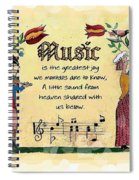 Music Fraktur Spiral Notebook