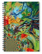 Music In Bird Of Tree Assymetrical Spiral Notebook