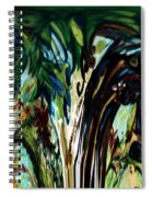 Music In Bird Of Tree Drip Painting Spiral Notebook
