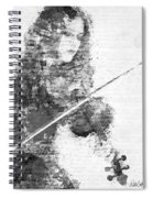 Music In My Soul Black And White Spiral Notebook