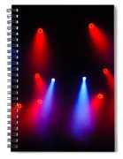 Music In Red And Blue - The Wonderful Sound Of Nightlife Spiral Notebook