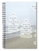 Music Of The Wind And Waves Poem On Ocean Background Spiral Notebook